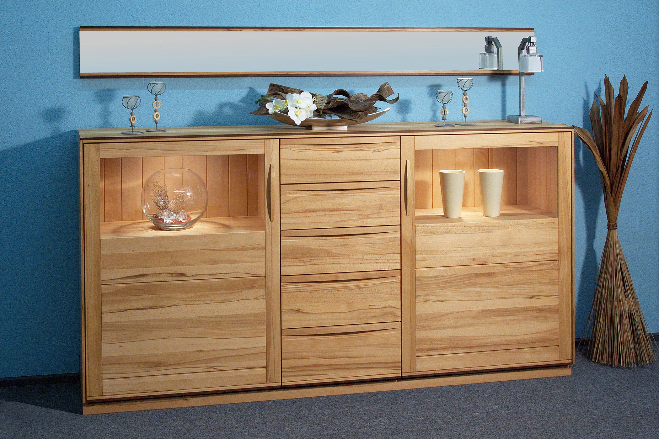 Moderne Möbel Hochanrichte - Tischlerei Brasch fertigt auch für Hamburg
